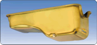 Milodon 30720 Oil Pan; Replacement 5qt Gold Iridited for 1965-74 Ford 302 Engine
