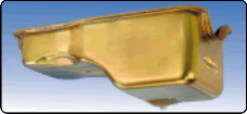 Milodon 30730 Oil Pan; Replacement 5qt Gold Iridited for 69-75 Ford 351W Engine