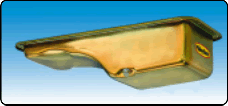 Milodon 30740 Engine OilPan Gold Iridite 5 qt. For Ford Pre-1973 FrtSump Chassis