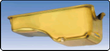 Milodon 30745 Oil Pan Steel Gold Iridite 5 qt. For Ford 429/460 Engines