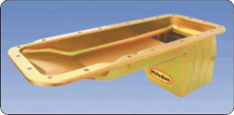 Milodon 30895 Oil Pan Gold For BB Chrys Dakota Eng Swap