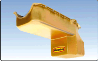 Milodon 31080 Engine Oil Pan For SB Chevy V-8 Into S-10