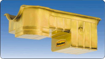 Milodon 31127 Oil Pan Steel Gold Iridite 7 qt. For Ford Small Block 351C Engine