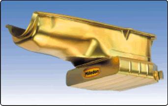 Milodon 18425 Gold Zinc Plated Low Profile Oil Pan Pickup for Pontiac